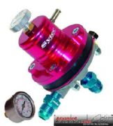 FSE Motorsport Red Adjustable Fuel Pressure Regulator -6jic With Free Gauge